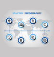 infographic design with startup icons vector image vector image