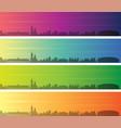 krakow multiple color gradient skyline banner vector image