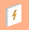 lightning computer symbol vector image