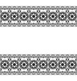 mehndi henna line lace floral element pattern vector image vector image