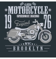 Motorcycle Racing Typography Graphics Brooklyn vector image vector image