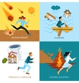 Natural Disasters Safety Design Concept vector image vector image