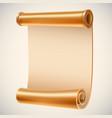 old golden manuscript ancient empty scroll vector image