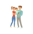 parents embracing their son happy mother and vector image