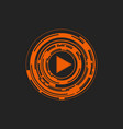 play button logo symbol icon abstract vector image vector image