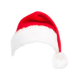 red santa hat vector image vector image