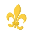 Royal french lily icon cartoon style vector image vector image