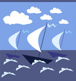 sail the high seas ships vector image