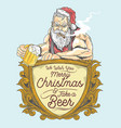 santa beer party vector image vector image