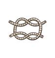 sea knot from marine cord cartoon vector image