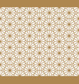 seamless pattern based on kumiko in golden color vector image
