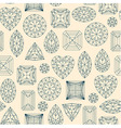 Seamless pattern made of line art diamonds vector image vector image