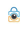 security camera logo technology vector image vector image