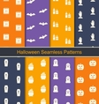 Set Seamless Textures with Halloween Symbols vector image vector image