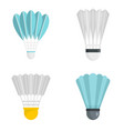 shuttlecock icon set flat style vector image vector image