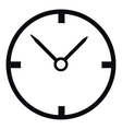Small wall clock icon simple style vector image vector image