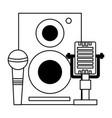 speaker microphones music festival on white vector image vector image