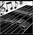 studio or dj control panel vector image