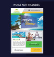 Travel and tour flyer banner template