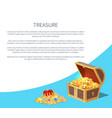 treasure poster text sample vector image