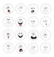 Emotion smiles set 003 vector image