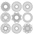 set of elements for arabic design vector image