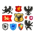 Shield with griffin gryphon eagle logo vector image
