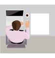 Sleeping office worker vector image