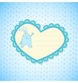Baby Frame on Blue Background vector image