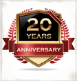 20 years anniversary golden label vector image vector image