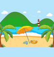 a simple beach scene vector image