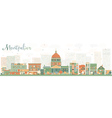 Abstract Montpelier Vermont Skyline vector image vector image