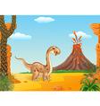 Adorable cute dinosaur vector image vector image