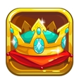 App store icon with golden crown vector image vector image
