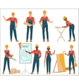 Architect and construction builders workers Civil vector image vector image
