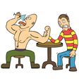 Arm wrestling vector image