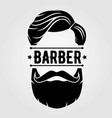 barber shop poster template with hipster face