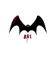 bat design template vector image vector image