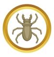 Beetle woodworm icon vector image