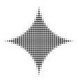 black pixel sparkle star icon vector image