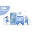 car sharing concept for web banner website vector image