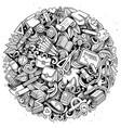 cartoon doodles school vector image