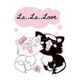 cat love valentine set vector image