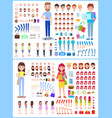 character man with woman vector image vector image