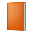 classic light brown book in front vertical view vector image vector image