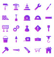 construction gradient icons on white background vector image