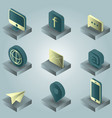 Contact us color gradient isometric icons