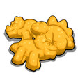 cookies in shape dinosaurs isolated on vector image vector image