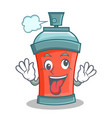 Crazy aerosol spray can character cartoon