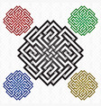 cruciform rhombus logo template in celtic knots vector image vector image